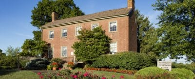 The office at Breckinridge Court Apartments is the original 2 story brick farmhouse built in 1860.