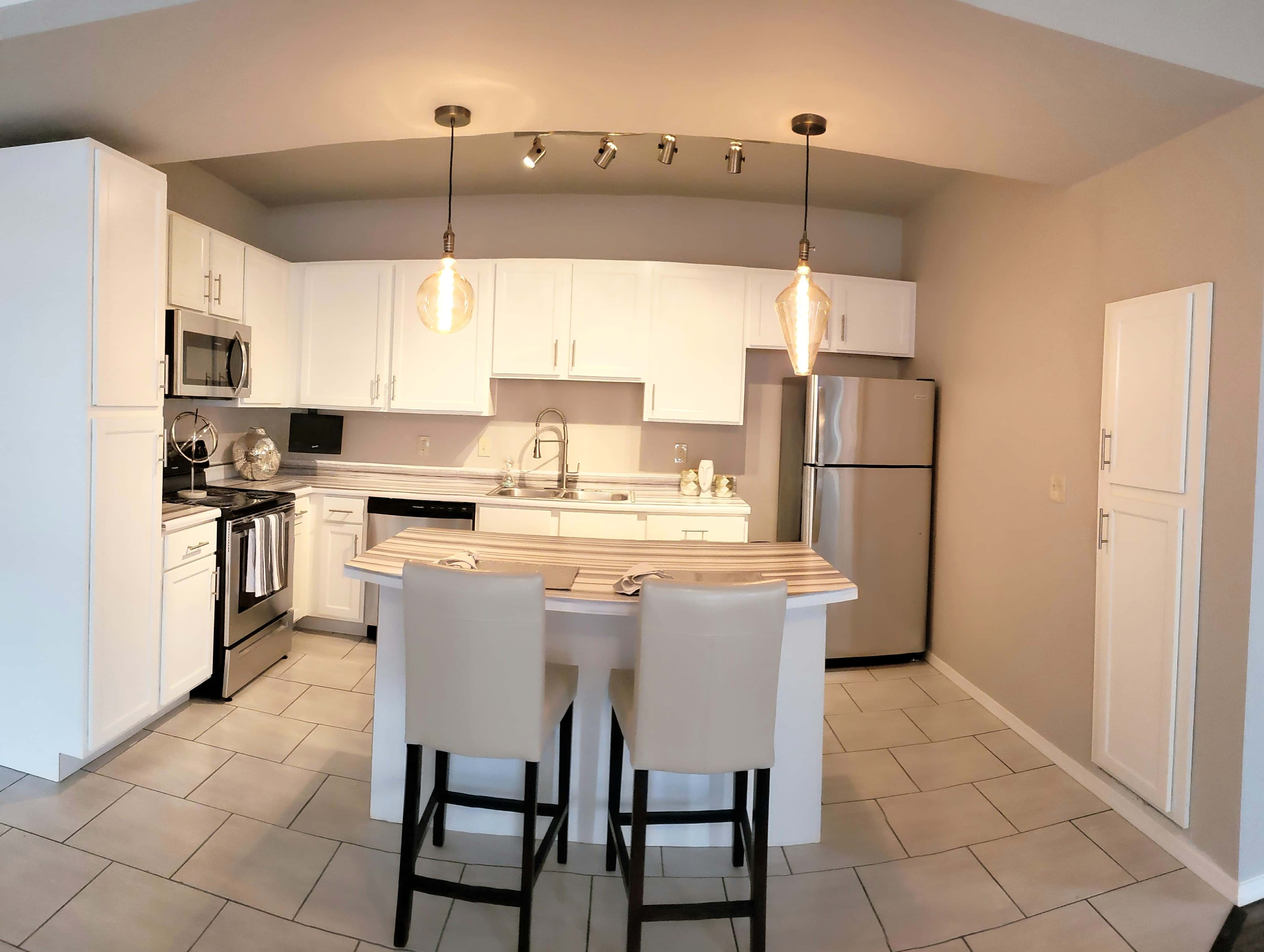 Kitchen at Crown at Lone Oak Apartments